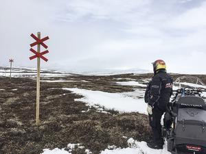Skoter- och skidföret tog snabbt slut våren 2017.