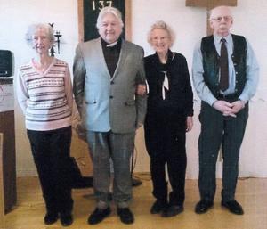 Från vänster: Barbro Rennig, Per-Ingmar Persson, Margit Andersson och Sven-Leo Pålsson.