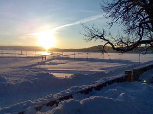 Jag tog den här bilden från Badhusparken 30 januari. Vi var på promenad och trots bitande kyla blev jag varm i hela kroppen av att se när Östersund visade sig från sin bästa sida, berättar Malin Edler.