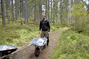 Klas Ernhult från Uppsala tycker det är toppen. I Uppsala har de precis startat en ny stigcykelklubb, berättar han.