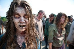 Scen från populära tv-serien Walking dead.