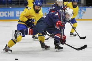 Erica Udén Johansson i en match mot USA.
