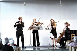 Startpunkt. Tobias Carron,Tora Carron, Anna Widlund och Erik Uusijärvi var med om att kicka igång årets upplaga av Kammarmusikfestivalen i Sandviken.