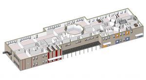 Så här ska skolan se ut invändigt på andra våning. I mitten ses den oktagonformade aula som är planerad.