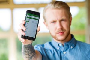 Jesper Brinley har efter tre år nu släppt appen Whats your socials.