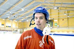 Mattias Hammarström leder skytteligan i elitserien och siktar på fler mål hemma mot Sirius.