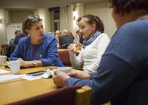 Centerns oppositionsråd, Caroline Schmidt, hade dialog med Anna Ytell vid Hushållsfixarna.
