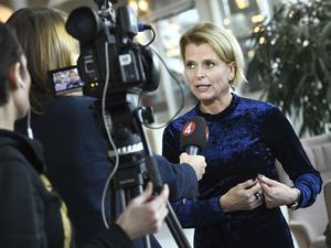 Barn-, äldre- och jämställdhetsminister Åsa Regnér efter riksdagsdebatten om assistansersättning.