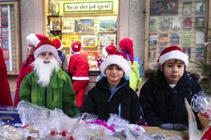 Självklart var det också traditionell julmarknad.