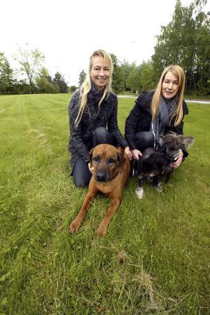 Vill öppna jourklinik. För hund- och kattägare är djuren som barn, säger Lotta Malmberg, tv, och Cecilia Pramheim.