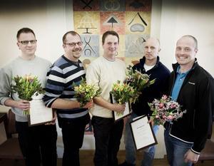 Fem företagare som vill vinna: Anders Flodin-Lund, Magnus Lundh, Kenny Ahlgren, Tony Croon och Ulf Eriksson