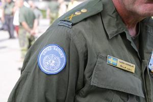 Björn Hernblad hade letat fram sin gamla uniform lagom till marschen.