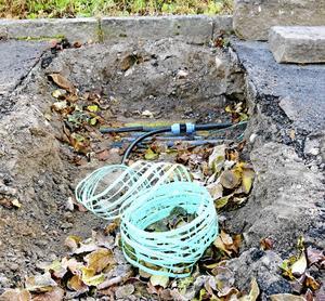 Här grävs för fiber.