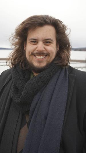 William C. Woxlin, 28 år, är ny ordförande för Dalarnas författarförbund.