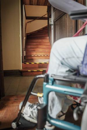 Längst in i museet tar det stopp om en är rullstolsbunden.