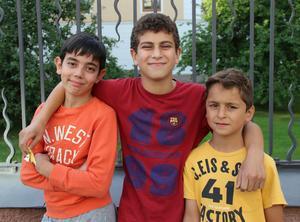 Mohammad Azam, Kasem Aslan och Muhammed Emin Keklik deltog i Arbetarbladets frågesport om Sean Banan.