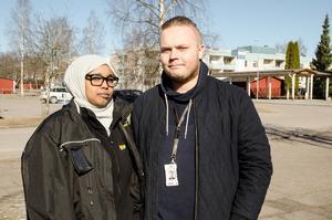 Nimo Ahmed och Christoffer Ahlenius ser båda fram emot det kommande bygget.