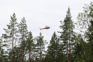 Cirka 220 ton har helikoptern