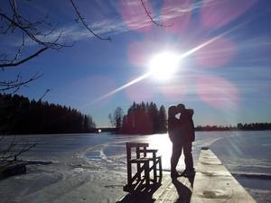 Hälsade på min pojkvän och så gick vi en promenad och hittade denna underbara plats vid vattnet, vädret var på topp!