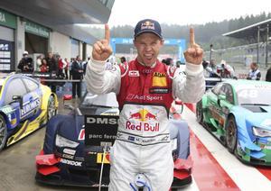 Mattias Ekström jublar efter beskedet att det blir dubbla tävlingar i både DTM och rallycross-VM i Hockenheim.