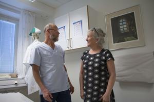 Bengt Forssman och Lisa Lauri går båda i pension om två år – och de är oroliga för vad som ska hända med hälsocentralen i Ockelbo när de slutar.