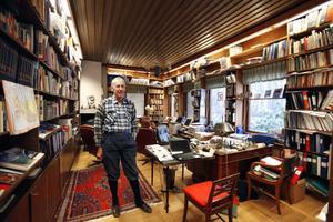 2012 tog Per-Olof Eriksson emot hemma i villan i Hedgrind och stämde in i kritiken mot hur Olof Faxander styrde Sandvik.Foto: Lasse Halvarsson.