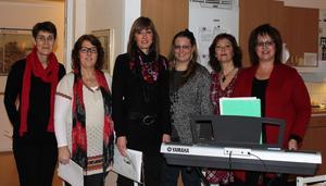 Gospel Ladies bestående av: Lena, Anki, Annica, Emma, Lotta och Marita. Bild: Privat.