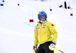 Från fartåkare till teknikspecialist. Sara Hector, som här tränar i Vail inför VM-starten, har fått ett lyft i både storslalom och slalom i vinter.