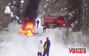 Läsarbild: Bilbrand i Falun, Bergsgården.