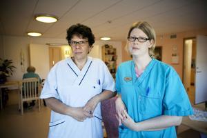 Hanna Öhman och Jenny Forslöf är båda undersköterskor och lågavlönade. De har långt kvar till de cirka 25 000 kronor en kommunanställd tjänar i genomsnitt.
