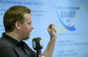 Svenne Olsson på presentationen. Bild: Janerik Henriksson/TT