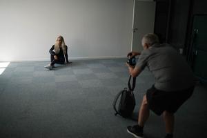 Annas pappa Mikael Nyström hjälper till och sköter det interna arbetet med Annas instagramkonto. Ibland får han även agera fotograf.