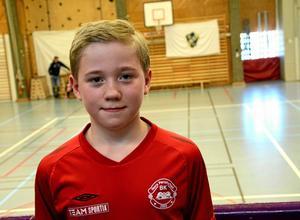 """Målgörare. Jesper Rygh i NPBK stod för två mål under turneringen. """"Man är ju inte van att springa nu efter julen, så lite ont i benen fick jag men annars gick det bra"""", säger han."""