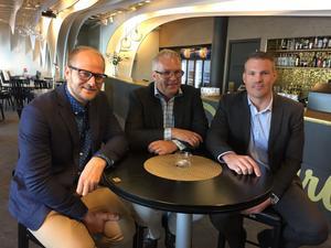 David Marcusson, Ulf Strinnholm Lidfalk och Jens Näslund.