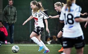 Marie Segerholm blev ensam i sin anfallsroll mot Eskilstuna United.