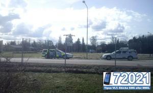 En misstänkt yxman greps i en taxi i Kolbäck på tisdagen. FOTO: LÄSARBILD