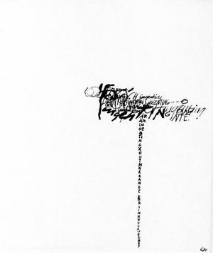 Hermodsson var tidig med att blanda in text i sina bilder.