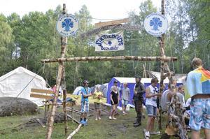 Många scoutkårer åker till lägret tillsammans. Här här några från Sörmland.