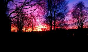 Hissmofors morgonen den 9:e november 2011.