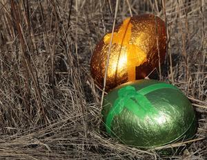 Henrik Scheutz uppmanar till en påsk utan ägg - i alla fall om äggen kommer från hönor. Foto: Lise Åserud / TT.