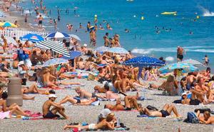 """""""Gudfadern"""" greps på spanska solkusten i närheten av Malaga."""
