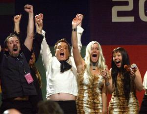 Sarek gick vidare till finalen i Melodifestivalen 2003. Foto: Jack Mikrut / Scanpix