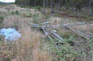 Omkullvräkt och söndersågat. Flera älgpass har vandaliserats i Rättvik.
