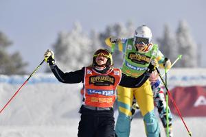 Sandra Näslund vinner före Sami Kennedy-Sim och Katrin Ofner under lördagens tävling.