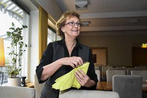 Gunilla Nordin tycker om att gå in och jobba på Söråkers herrgård, och hon har ännu inga planer på att helt lägga ner yrkeslivet.