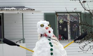 En snögubbe med åror är fint.