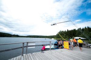 Sommarskolan blev inbjuden som en del av ett integrationsprojekt som Fagersta Cable Park, Västmanlands idrottförbund och SISU håller i.