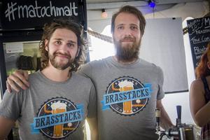 Arrangörerna Erik Eriksson och Erik Sundqvist är två av grundarna till Brasstacks brewing company.