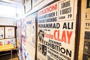 I boxningshallen är väggarna täckta med löpsedlar, tidningsutklipp och stora tunga rubriker, med ännu större namn.