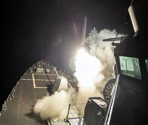 Bilderna har släppts av USA:s flotta.